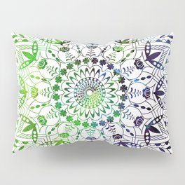 Green Mandala Pillow Sham