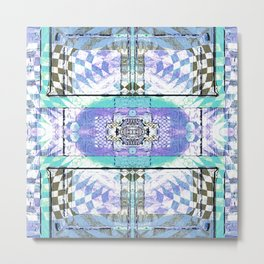 Soul Door Number Four Contemporary Psychedelic Abstract Metal Print