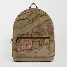 Vintage Map of New York City (1821) Backpack