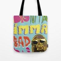 biggie smalls Tote Bags featuring Biggie Smalls  by madebypinda