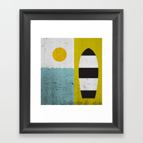 Sun & Board Framed Art Print
