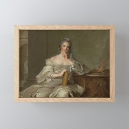 Princess Anne-Henriette of France - The Fire by Jean-Marc Nattier Framed Mini Art Print
