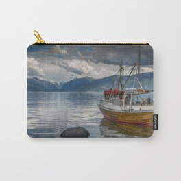 fishing boat in the harbor of Vik at the sognefjord in Norway Carry-All Pouch