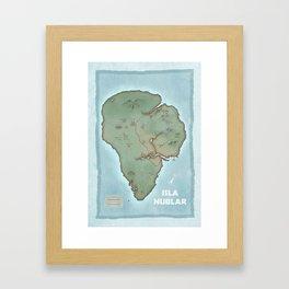 Isla Nublar Framed Art Print