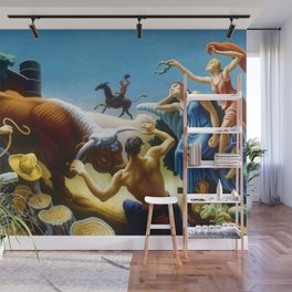 Classical Masterpiece 'Achelous and Hercules' by Thomas Hart Benton Wall Mural