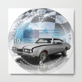 "1968 Oldsmobile Cutlass Hurst Decorative 10"" Wall Clock (027ac)  Metal Print"