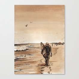 Coffee Art- Surf Canvas Print