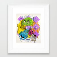 pacman Framed Art Prints featuring Pacman by Jesús L. Yapor