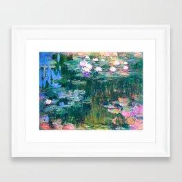 water lilies : Monet Framed Art Print