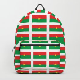 Flag of burkina faso- burkinabe,mossi,fula,ouagadougou,dioula,bobo-dioulasso,sahel,voltaic. Backpack