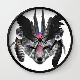 Fox Chief Wall Clock