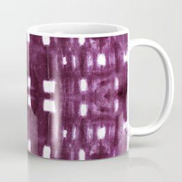 Shibori City Plum Wine Coffee Mug