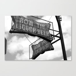 Bow Tie Sign Canvas Print