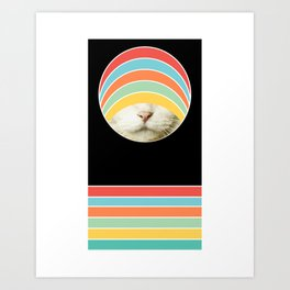 Experimental Feline Collage no. 1 Art Print