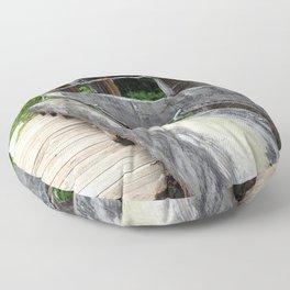 Wooden Bridge Floor Pillow