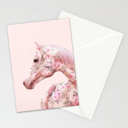 FLORAL HORSE Stationery Cards