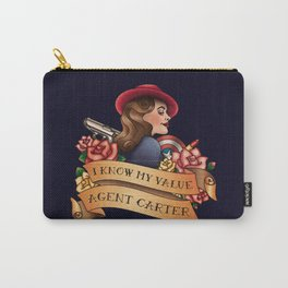 Agent Carter Vintage Tattoo Dark Carry-All Pouch
