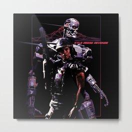 Kyle Reese Revenge Aliens Terminator 80s synthwave Metal Print