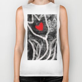 tulip with heart Biker Tank
