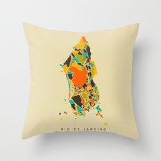 Rio map Throw Pillow