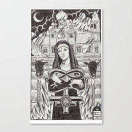 Nun After Buring Canvas Print