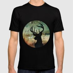 Deer 2 Mens Fitted Tee Black MEDIUM