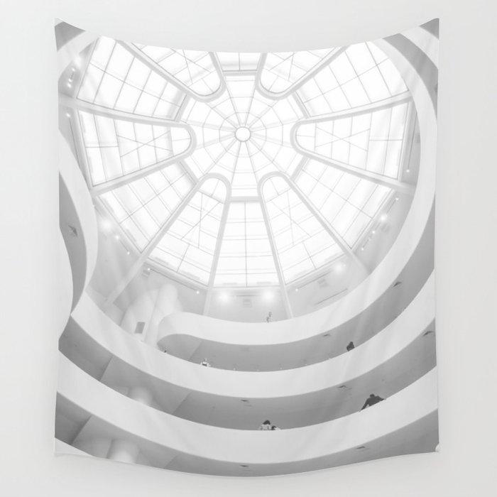 Guggenheim Interior Frank Lloyd Wright Architect New York Wall Tapestry