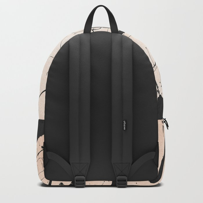 New Orleans Rose Gold and Black Map Backpack