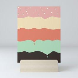 Ice Cream Layers Mini Art Print