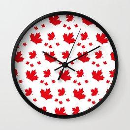 Canada Maple Leaf-Large-White Wall Clock