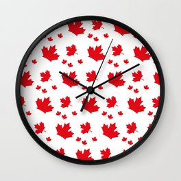 Canada Maple Leaf-Large-White Wall Clock