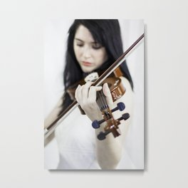 La violoniste Metal Print