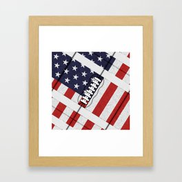4th of July American Football Fanatic Framed Art Print