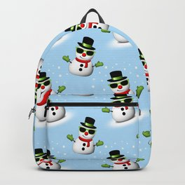 Cool Snowman with Shades and Adorable Smirk Backpack