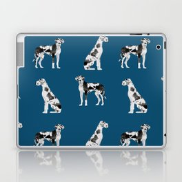 Great Dane harlequin coat dog breed gifts pet patterns for pure breed lovers Laptop & iPad Skin