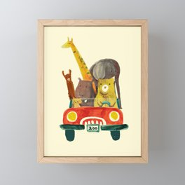 Visit the zoo Framed Mini Art Print