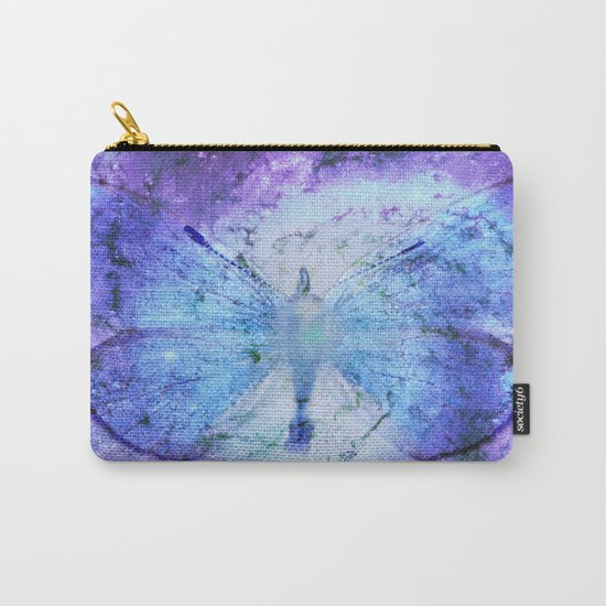 Celestial Butterfly Violet Blue Carry-All Pouch