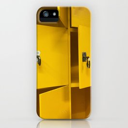 Yellow lockers iPhone Case