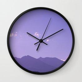Rocky Mountain Sunset II - Colorado Nature Photography Wall Clock