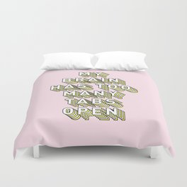 My Brain Has Too Many Tabs Open - Typography Design Duvet Cover