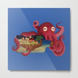 World in bottle: Atalantis (Octopus - monster) Metal Print