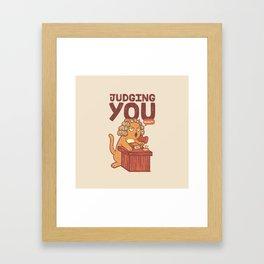 I'm Judging You Cat T-Shirt Framed Art Print