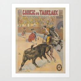 Vintage poster - Course de Taureaux Art Print