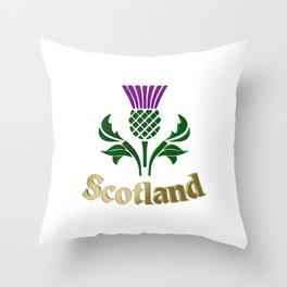 Scottish emblem thistle Throw Pillow