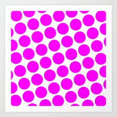 BIG PINK DOT Art Print
