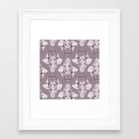 ganesh Framed Art Prints featuring GANESH by Daneisha Kay