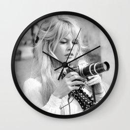 brigitte - bardot - style Wall Clock