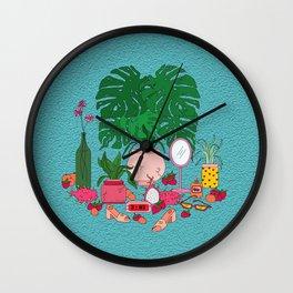 Peaches & Cream Wall Clock