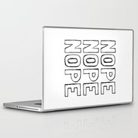 nope Laptop & iPad Skins featuring Nope by M Studio