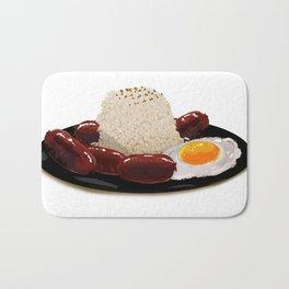 longsilog (pork longganisa, egg, fried rice) -filipino food Bath Mat